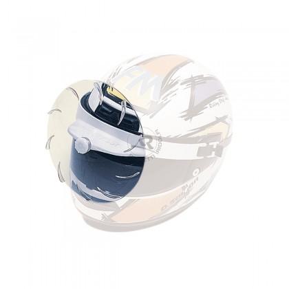 Turbo visière blanc