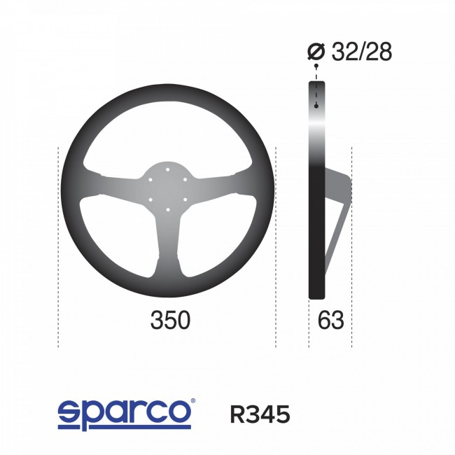 Volant Sparco R345