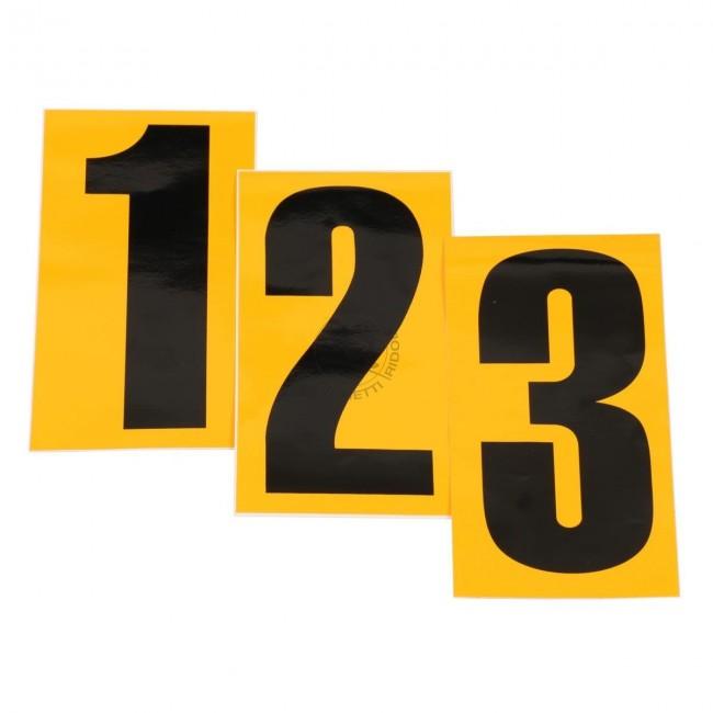 Numero de course jaune
