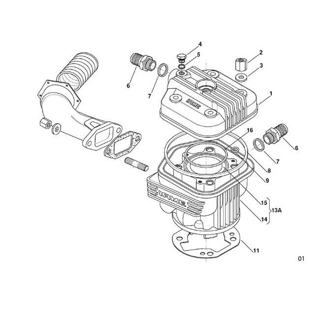 Culasse - Cylindre Iame X30