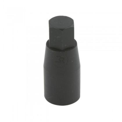 ECROU CYLINDRIQUE M8, EXAGONE 10mm, EN ALUMINIUM ANODISE